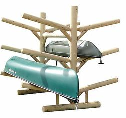 Log Kayak Rack 6-place Unfinished By Hitch Exclusives