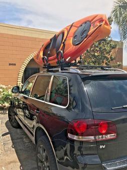 Luxury Kayak Rack Foldable Roof J-BarVersatile Ski Snow Surf