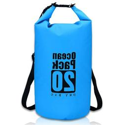 Marine Floating Waterproof 20L Dry Bag Roll Top Backpack Sac