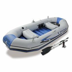 Intex Mariner 3-Person Inflatable River/Lake Dinghy Boat & K