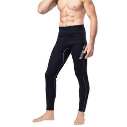 Men Black Wetsuit Pants 2mm Neoprene Warm Kayak Canoe Surf S