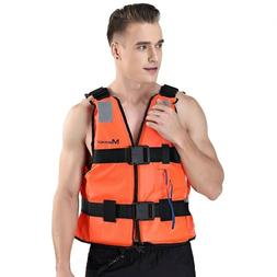 Men Life Vest Neoprene Fishing Floating Water Boating Kayak