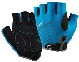 NRS Men's Boater's Gloves 3/4 Finger MARINE BLUE Paddle Rowi