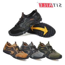 Men Water Shoes Quick Dry Aqua Camp Shoes for Beach River Be