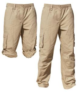 Mens Cargo Pants UPF50+ Sun Protection STONE Fishing Kayakin