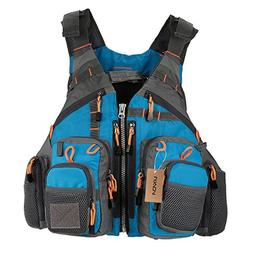 Lixada Fly Fishing Vest,Fishing Safety Life Jacket Breathabl