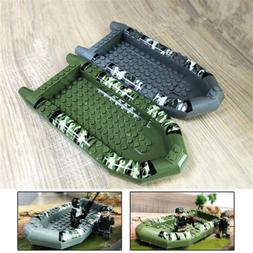 Military SWAT Kayak Building Blocks For Police Figures Acces