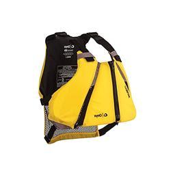 ONYX MoveVent Curve Paddle Sports Life Vest, Yellow, X-Large