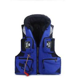Multi pocket Men Outdoor Fishing Chest Vest Pack Kayak Life