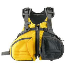 Multi-Pockets Adult Life Jacket Vest Personal Floatation Dev
