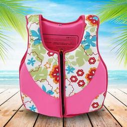 Neoprene Children Life Jacket Lifesaving Vest Kayak Beach Sw