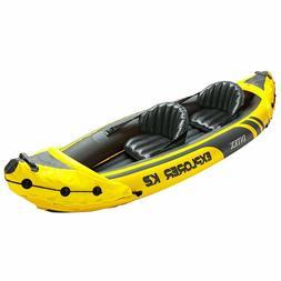 NEW Inflatable Kayak Raft Floating Boat Raft Set w/ Aluminum