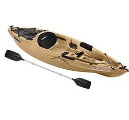 One Person Kayak 10 Ft Fishing Boat w/ Paddle Lightweight Ca