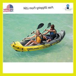 Paddling On Lakee Explorer Kayak 2 Person Inflatable Set Alu