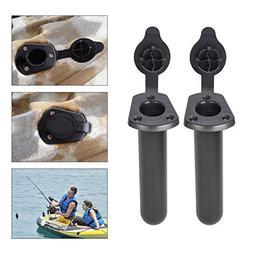 Multi Outools Plastic Flush Mount Fishing Boat Rod Holder wi