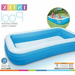 """Play Day Rectangular Inflatable Family Pool, 120"""" x 72"""" x 22"""