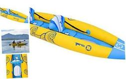 Pool Central Inflatable Blue and Yellow Zray Tahiti Kayak Se