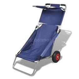 Portable 3-in-1 Deluxe Cargo Cart / Trolley / Beach Chair Ca
