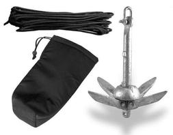 Portable Folding 3lb Anchor Kit Canoe Kayak Raft Boat Sailbo