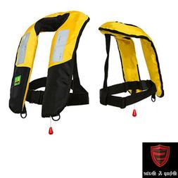 Premium Reflective M-33 Manual Inflatable Life Jacket Vest P