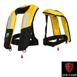 Premium Reflective M-33 Manual Inflatable Life Jacket Vest P
