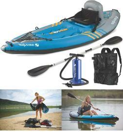 quikpak 1 person kayak hit the water