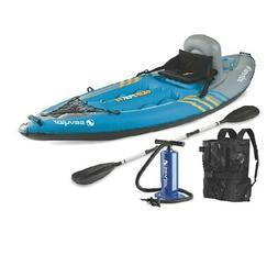 Sevylor Quikpak K1 1-Person Inflatable Kayak/Raft/Fishing/Su