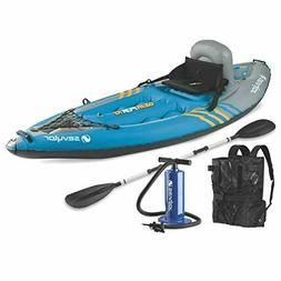 Sevylor Quikpak K1 1-Person Kayak Blue, 8'7 x 3'