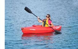 Sun Dolphin RED Aruba 8' SS Sit-in Lightweight Kayak w/ Stor