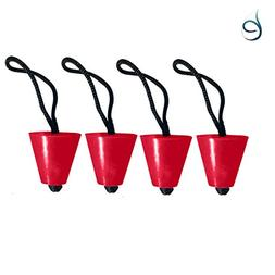 Best Red Universal Kayak Scupper Plugs Set Of 4