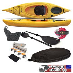 Riot Quest 9.5 KAYAK + Paddle + Leash + Seat Cover + Skirt +