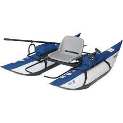 Roanoke 1-Person Pontoon Boat Kayak Canoe Water Sports Pedal