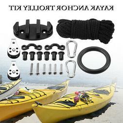 Rope Pulleys Kayak Anchor Cleat Pad Eyes W/ Nuts Screws Kit