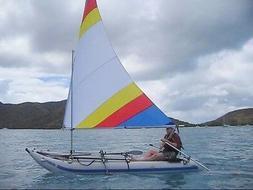 Sail kit for Sea Eagle Paddleski Kayak w/ Even Bigger 55 SF