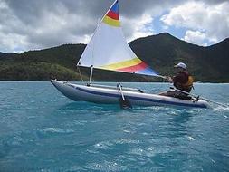 Sail kit for Sea Eagle Paddleski Kayak with Bigger 45 SF Sai