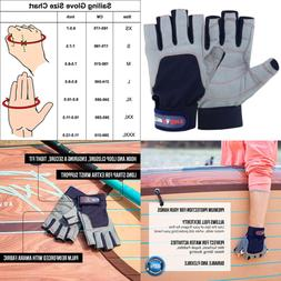 Sailing Gloves W 3/4 Finger & Grip For Men Women Great Kayak