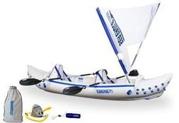 Sea Eagle SE330K_QS Inflatable Kayak - QuikSail Seats Paddle