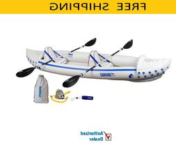Sea Eagle SE370K_P Inflatable Kayak with Pro Package , Free