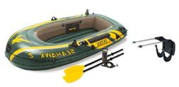 Intex Seahawk 2 Inflatable Boat Set + Oars/Pump/Motor Mount