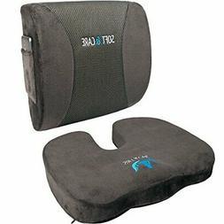 SOFTaCARE Seat Cushion Coccyx Orthopedic Memory Foam and Lum