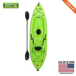Sit-On-Top Kayak Lime Green w/ Paddle Paddlekeeper Storage H