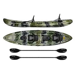 Vibe Kayaks Skipjack 120T | 12ft Tandem Kayak | 2 Person, Si