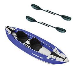 Solstice Durango 2 Person Inflatable Kayak & Adjustable Rive