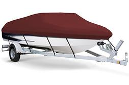 7oz Solution Dyed Polyester Maroon, Styled to FIT Boat Cover