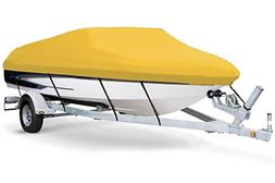 7oz Solution Dyed Polyester Yellow, Styled to FIT Boat Cover