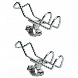 Stainless Steel Rail Mounted Clamp on Rod Holder Double Wire
