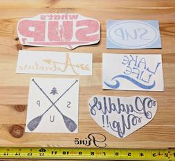 Stand up paddle DECALS x6 - SUP vinyl STICKER Hiking kayak t