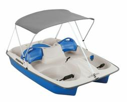 Sun Dolphin 5 Seat Sun Slider Pedal Boat with Canopy, Blue