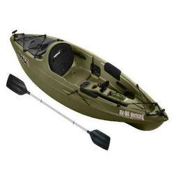 Sun Dolphin Journey 10 SS Sit-On Angler Kayak Olive, Paddle