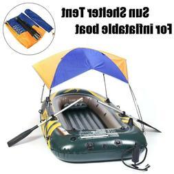 Sun Shade Canopy Awning Foldable Inflatable Kayak Boat Rain